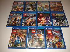 Playstation Vita LEGO COLLECTION LOT - Batman - Jurassic World - Star Wars PS