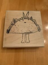 Stamp La Jolla Taco Bunny Rubber Stamp Large L202-Db Rabbit Eyes On Taco Cute
