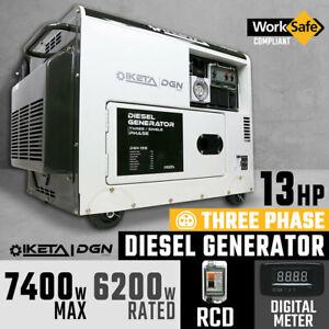 Diesel Generator 7400W Max Electric Start Work Site Camping Portable Power Suppl