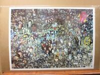 Vintage Rock n' Roll collage Beatles 1970's water damage Inv#G1731