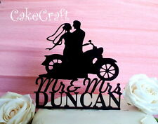 Acrilico Bici Moto Mr e Mrs Matrimonio,anniversario decorazione topper per torta