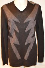 JOHN VARVATOS Man's LIGHTNING BOLTS Sweater NEW Size Large Retail $598