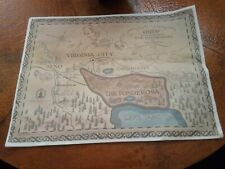 Map of the Ponderosa Ranch Of The Bonanza Television Series 1967