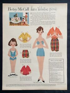 """Betsy McCall Mag. Paper Doll, Betsy McCall Has a Picnic"""", Feb. 1958"""
