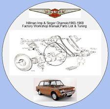 Hillman Imp & SINGER CHAMOIS 1963-1968 Factory Workshop Manual, pièces de listes