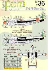 FCM Decals 1/72 FAIRCHILD C-119 BOX CAR Brazilian Air Force