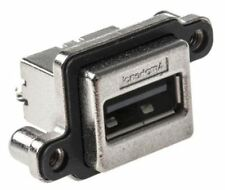 Amphenol MUSB SERIE , Vertical Through agujero CLASE A CONECTOR USB, Receptáculo