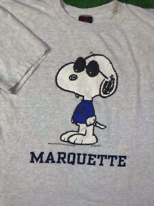 Vtg Snoopy Peanuts Marquette Warriors shirt Adult Sz L