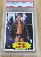 Chris Jericho 2013 Wwe Heritage Topps Card #10 Psa Graded 9 Low Pop