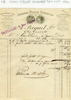 Paris III ème & Dépt 95 - 27 Rue Pastourelle - Petite Entête Tire Bouchons  1895