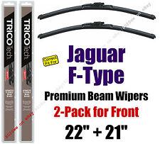 Wipers 2-Pack Premium Wiper Beam Blades - fit 2014-2016 Jaguar F-Type 19220/210