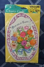 Easter Cards~Bless You At Easter~Forget Me Not~American Greetings~Stationary~6PK