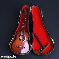 HOT FIGURE TOYS 1/6 Original wooden folk guitar Instrument model brown
