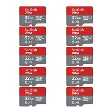 SanDisk 10 PACK Genuine A1 Class 10 Ultra Plus 32GB micro SDHC UHS-I Memory Card