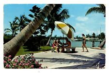 Southland Florida Postcard Terrace Women Swimsuits Water Palm Trees Vintage
