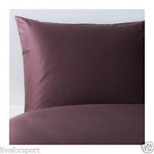 Ikea Full/Queen Gaspa Duvet Cover Pillowcase Dark Lilac Bedding 100%Cotton GÄSPA