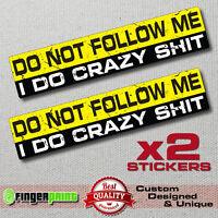 DON'T FOLLOW ME decal sticker vinyl funny bumper jdm 4X4 OFFROAD JEEP SUV 4WD