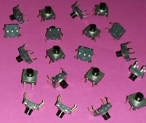 20 Stück Mikrotaster Mini Taster PCB Microtaster Industriequalität NOS Top