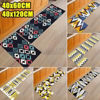 2PCS Home Thick Non-slip Runner Door Mat Kitchen Bath Floor Rug Carpet Decor