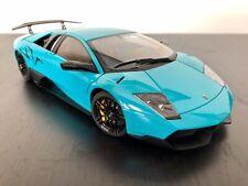 1/18 Autoart LAMBORGHINI MURCIELAGO LP 670-4 SV turquoise blue 74615