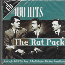THE RAT PACK 100 HITS 5 CD SET DEAN MARTIN FRANK SINATRA SAMMY DAVIS NEW/SEALED