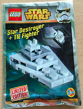 LEGO SET star wars POLYBAG VAISSEAU MINIFIG STAR DESTROYER ET TIE EDITION LIMITE