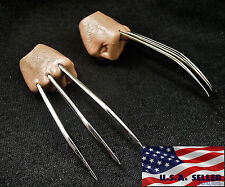 1/6 Wolverine Metal Claw Hands Realistic Hair Fist Steel Talons USA ❶IN STOCK❶