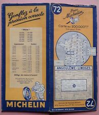 #) A - carte MICHELIN 72 ANGOULEME - LIMOGES 1948