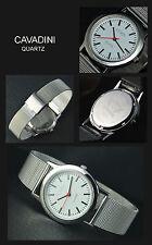 Luxury & Flat Classic Cavadini Watch Bahnhof Style Digits Melanes Bracelet