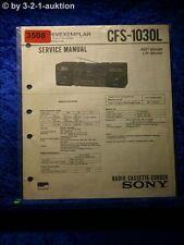 Sony Service Manual CFS 1030L Cassette Corder (#3508)