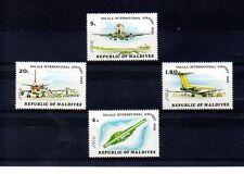 Maldivas Aviones Comerciales Aeropuertos serie del año 1981 (AG-696)