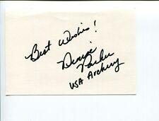 Denise Parker 1988 US Olympic Bronze Archer Medal Signed Autograph