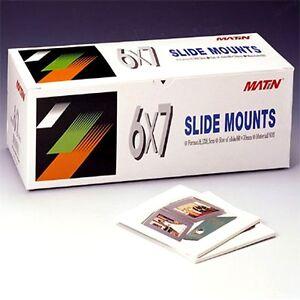 Matin 50 Qty SLIDE MOUNTS Scrapbooks Film ABS 6x7 Mount Carousels