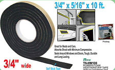 "RUBBER FOAM WEATHER SEAL SELF STICK TAPE WEATHER STRIP 3.4"" X 5/16"" X 10FT"