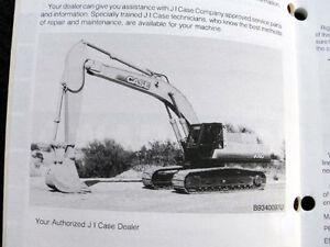 ORIGINAL CASE 9060 EXCAVATOR OPERATORS MANUAL 140 PAGES NICE ONE