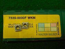 2 Walter 7335-000F WKM Carbide Inserts