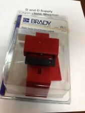 BRADY 104106, Breaker Lockout, Clamp On, 480/600V, Red, Made-In-The-USA, 6T784