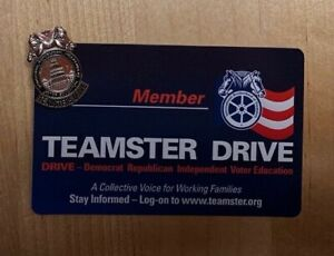 TEAMSTER DRIVE Member Lapel Hat Pin James Hoffa President Voter Education