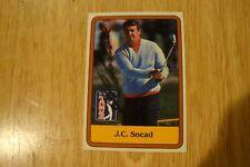 J C SNEAD AUTOGRAPHED CARD PGA TOUR