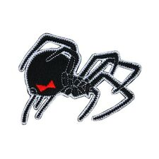 Creeping Black Widow Spider Patch Poisonous Arachnid Insect Bug Iron-On Applique