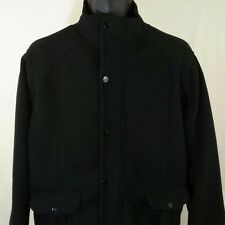 Culture Mens Military Field Jacket Full Zip Black Button Down Mock Neck Size XL
