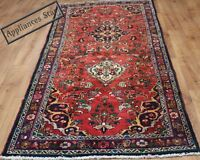 OLD WOOL HAND MADE ORIENTAL FLORAL RUNNER AREA RUG CARPET 250 X 108CM
