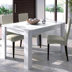 Tavolo allungabile 6 posti AFRODITE 140 bianco cucina sala pranzo estensibile