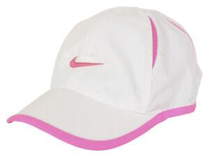 Nike Toddler's Dri-FIT Featherlight White Strapback Baseball Cap Hat Sz: 2/4T