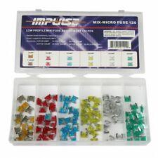 120 pcs Impulse / MINI/Low Profile/Mini Blade Fuse Auto Car FUSES Assortment Kit
