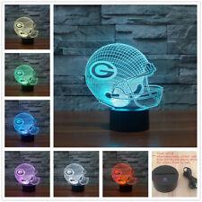 NFL Green Bay Packers Helmet 3D illusion 7Color Change LED Night Light Desk Lamp