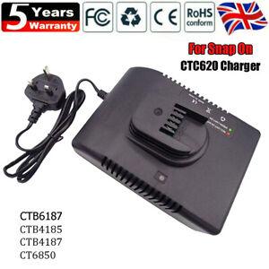 CTC620 Charger For Snap On Battery Li-Ion CTB6187 CTB6185 CTB4187 4185 UK Plug