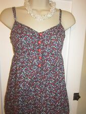 Ladies size 8 Denim Co ditsy floral tunic strappy summer top