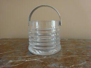 Vintage 1970s Dartington Glass Ice Bucket by Frank Thrower