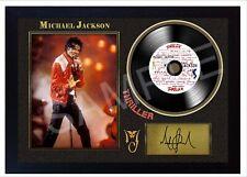 NEW! Michael Jackson Thriller MUSIC  SIGNED FRAMED PHOTO LP Vinyl